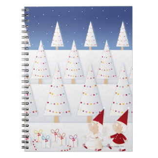 Winter and forest all covered with snow spiral notebook