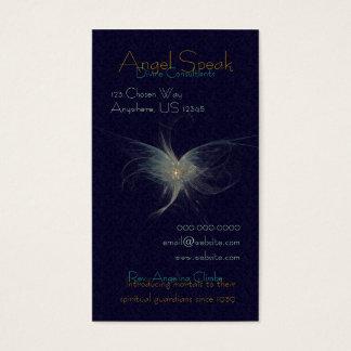 Winter Angel Fractal Art Business Card