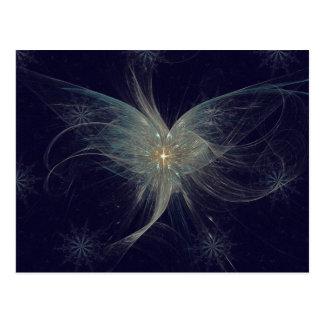 Winter Angel Fractal Art Postcard