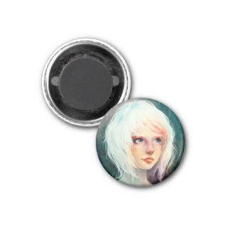 Winter Angel 1 Inch Round Magnet