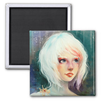 Winter Angel 2 Inch Square Magnet