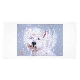 Winter Angel (Westie) Card