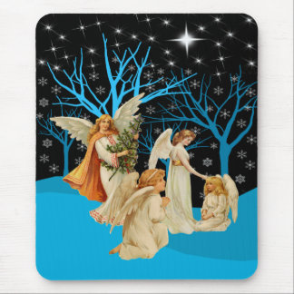 Winter Angels Mouse pad