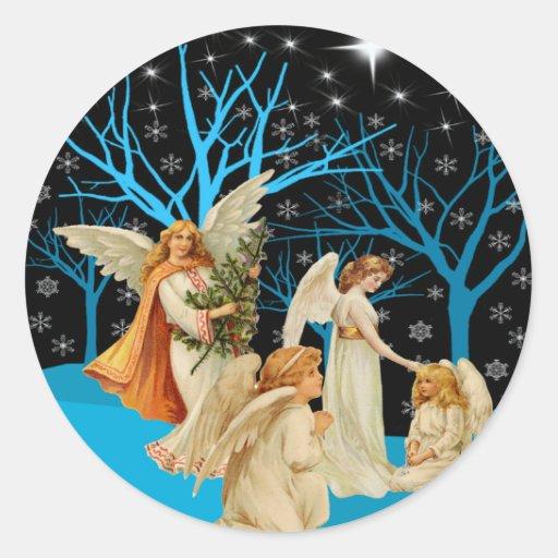 Winter Angels Stickers