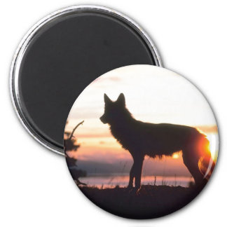 Winter Animal Silhouette Magnet