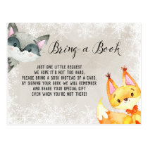 Winter Animal Woodland Books for Baby Card