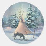 WINTER APPALOOSA TIPI by SHARON SHARPE Sticker