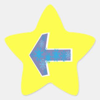 Winter Arrow Left Star Sticker