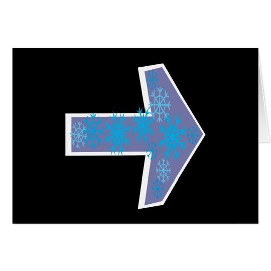 Winter Arrow Right Card