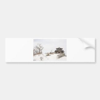 Winter asian landscape bumper sticker