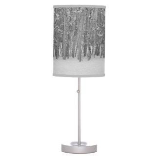 Winter Aspen Trees Desk Lamp