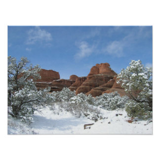 Winter at Arches Poster