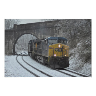 Winter at Clarksville Poster