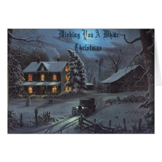 Winter at Grandpas Farm, Wishing You A White Ch... Card
