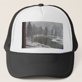 Winter at Green Mountain Falls, Colorado Trucker Hat