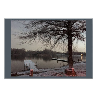 Winter at Lake Luxembourg Core Creek Park Poster