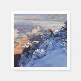 Winter at Mather Point Paper Napkin