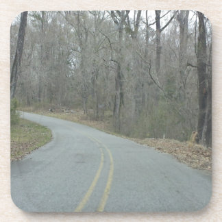 Winter at Natchez Trace Parkway MS Drink Coaster