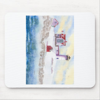 winter at Nubble LIghthouse in Maine Mouse Pad