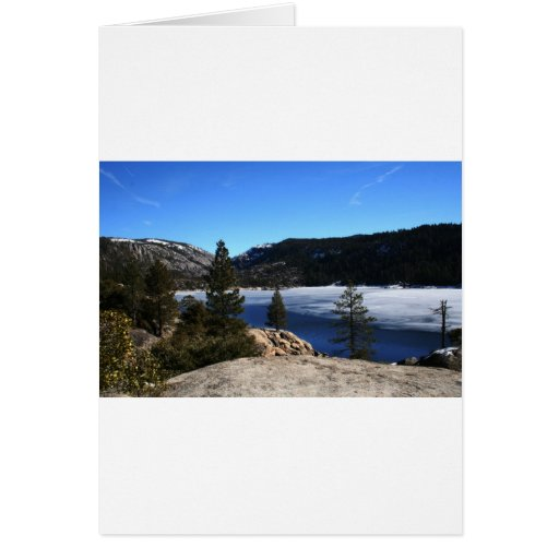 Winter at Pinecrest Lake Card