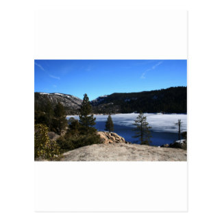 Winter at Pinecrest Lake Post Card