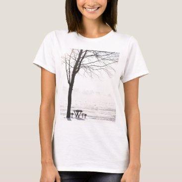 Beach Themed Winter at Silver Beach T-Shirt