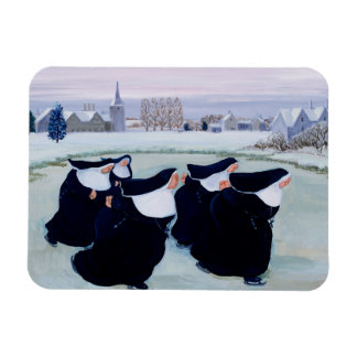 Winter at the Convent Rectangular Photo Magnet