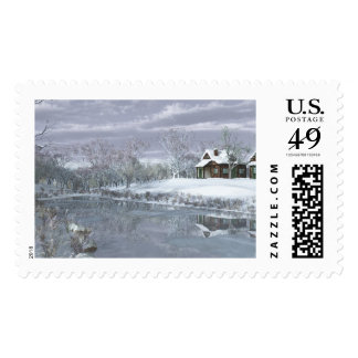 Winter at the Lake Postage