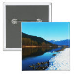 Winter at the River Pinback Buttons