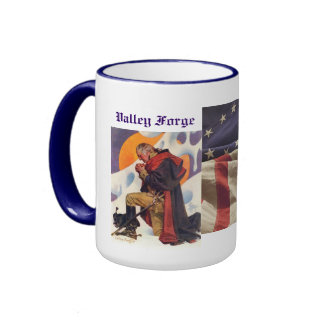 WINTER AT VALLEY FORGE RINGER COFFEE MUG