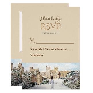 Winter at Windsor Castle Wedding Response RSVP Card