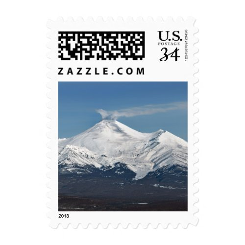 Winter Avachinskaya Sopka in Kamchatka. Russia Postage