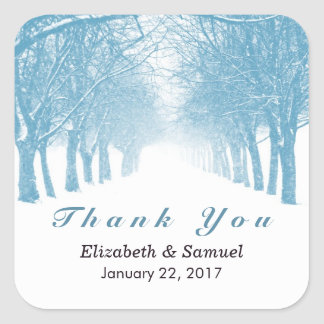 Winter Avenue Wedding Thank You Favors Stickers