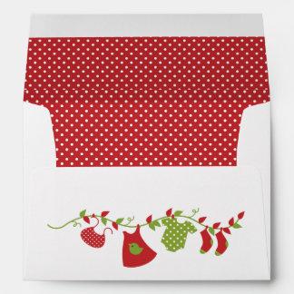 Winter Baby Clothesline Envelope