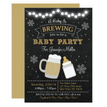 Winter Baby Is Brewing Baby Shower Card
