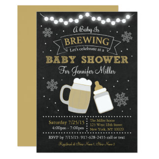 Winter Baby Is Brewing Baby Shower Invitations