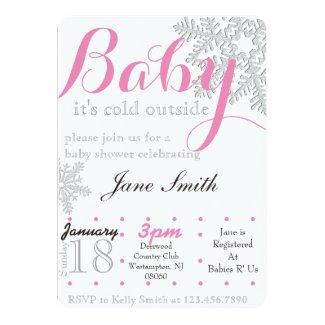 Winter Baby Shower 5x7 Paper Invitation Card