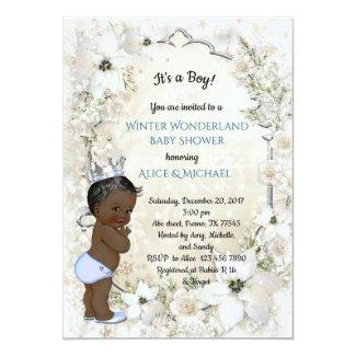 Winter Baby Shower Boy, etnic,Winter Wonderland Card