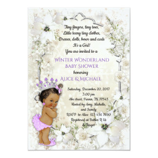 Winter Baby Shower Girl,brunette,Winter Wonderland Card