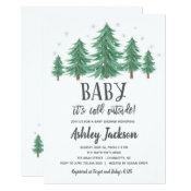 winter Baby Shower Greenery Woods Invitation