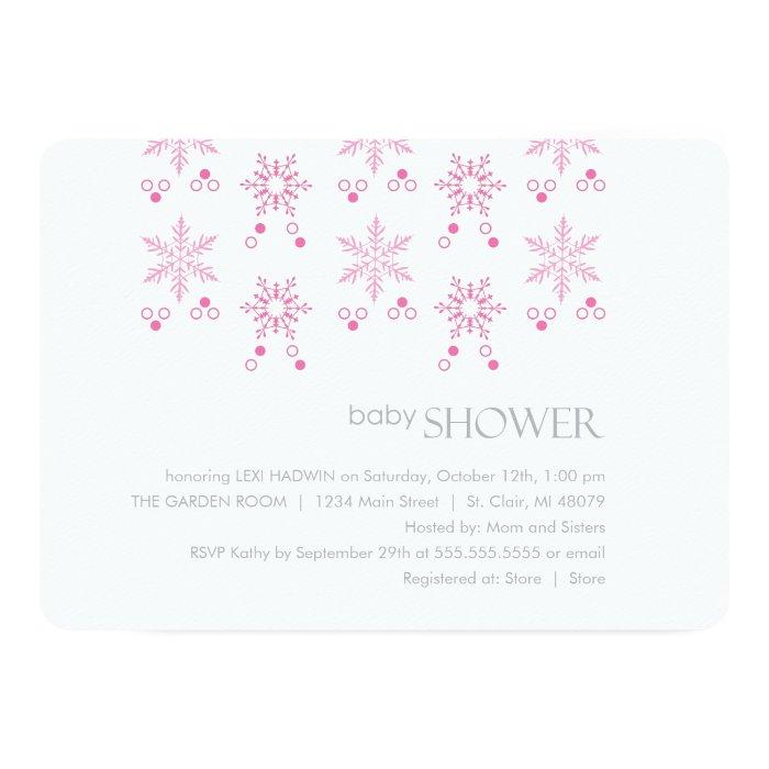 winter baby shower invitation girl zazzle