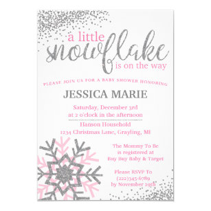 silver snowflake invitations zazzle