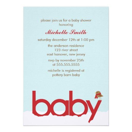 winter baby shower invitations