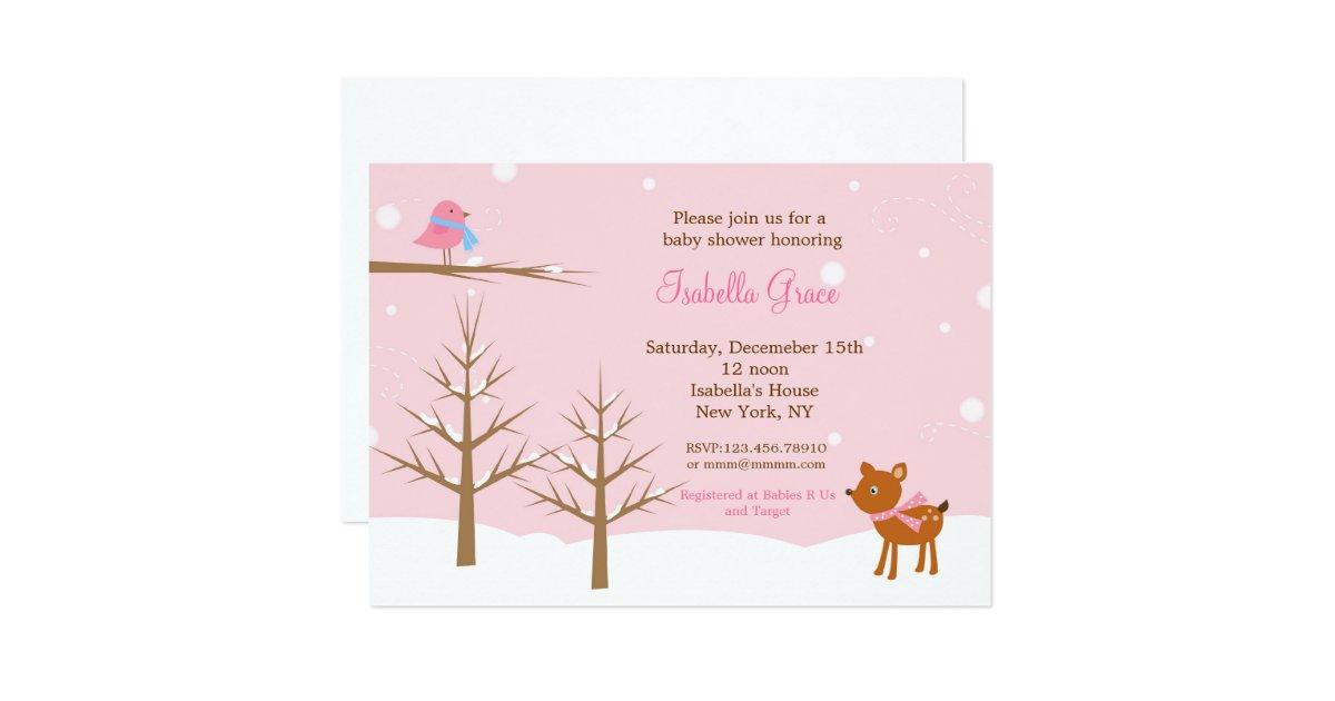 winter baby shower invitations zazzle