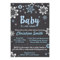 Winter Baby Shower Invitations for a Boy