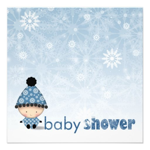 winter baby shower invitations snowflakes and baby zazzle
