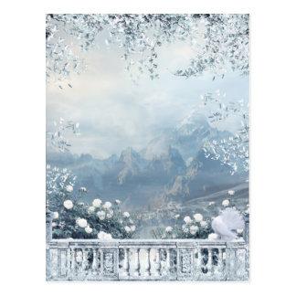 Winter Balcony View Postcard