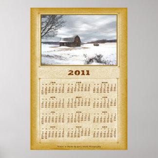 Winter Barn 2011 Calendar Poster