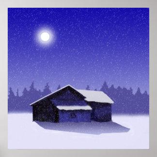 Winter Barn 2 Posters