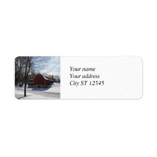 Winter Barn Address Label